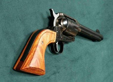 Showing the Ruger Vaquero Extended Grip from the Other Side